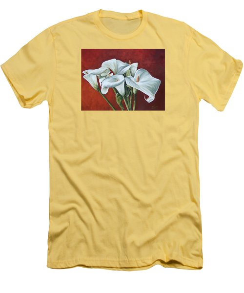 Men's T-Shirt (Slim Fit) featuring the painting Calas by Natalia Tejera