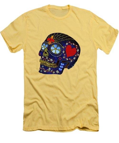 Calavera Del Azucar Men's T-Shirt (Slim Fit) by Iowan Stone-Flowers