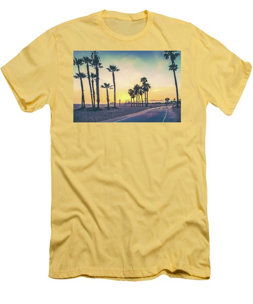 Cali Sunset Men's T-Shirt (Athletic Fit)