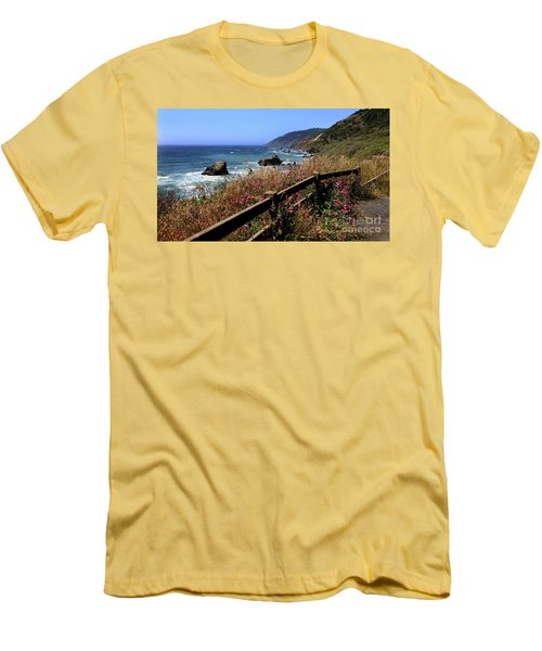 California Coast Men's T-Shirt (Slim Fit) by Joseph G Holland