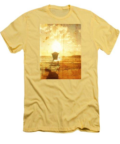 Californian Lifeguard Cabin Men's T-Shirt (Slim Fit) by Andrea Barbieri