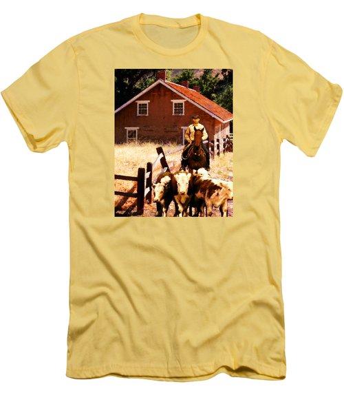Calves Men's T-Shirt (Slim Fit) by Timothy Bulone
