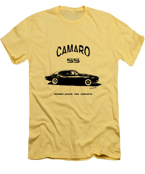 Men's T-Shirt (Slim Fit) featuring the photograph Camaro Ss V.2 by Kim Gauge