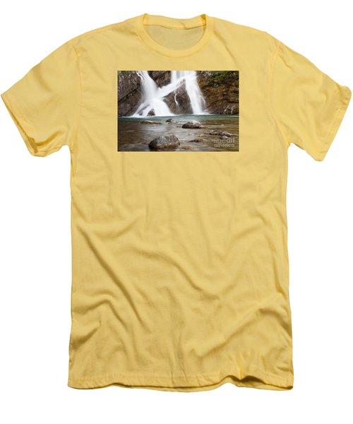 Cameron Falls In Waterton Lakes National Park Men's T-Shirt (Athletic Fit)