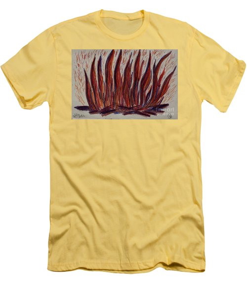 Campfire Flames Men's T-Shirt (Slim Fit) by Theresa Willingham