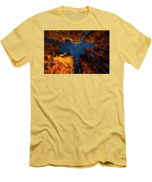 Camping Under The Stars  Men's T-Shirt (Slim Fit) by Alpha Wanderlust