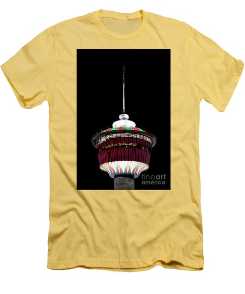 Men's T-Shirt (Slim Fit) featuring the photograph Candy Cane Tower by Brad Allen Fine Art