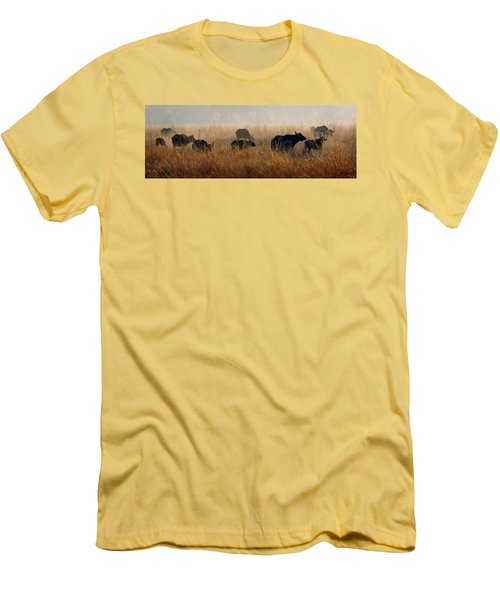 Cape Buffalo Herd Men's T-Shirt (Athletic Fit)