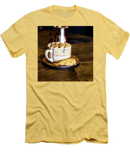 Caramel Macchiato With Scone Men's T-Shirt (Slim Fit)