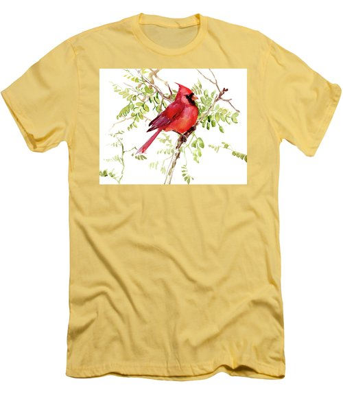 Cardinal Bird Men's T-Shirt (Athletic Fit)