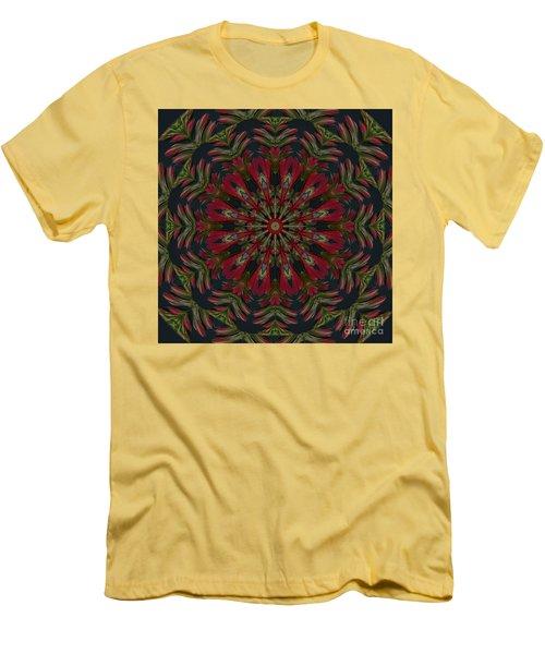 Cardinal Kaleidoscope Men's T-Shirt (Slim Fit) by Judy Wolinsky