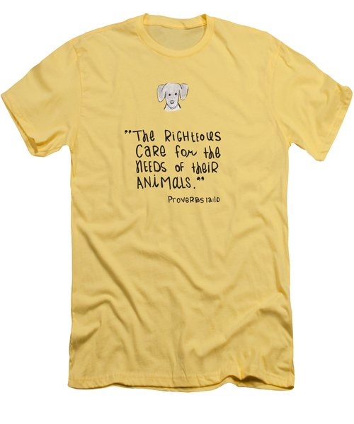 Care For Animals Men's T-Shirt (Slim Fit)