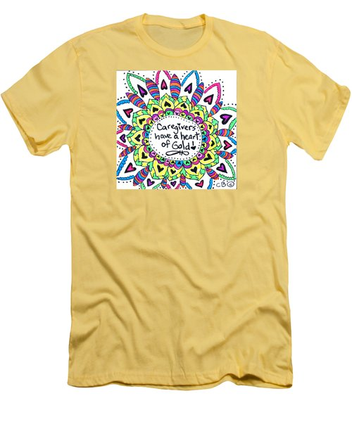 Caregiver Flower Men's T-Shirt (Athletic Fit)