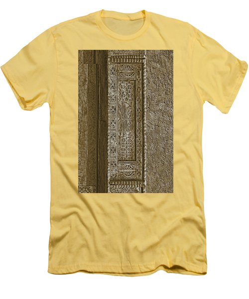 Men's T-Shirt (Slim Fit) featuring the photograph Carving - 5 by Nikolyn McDonald