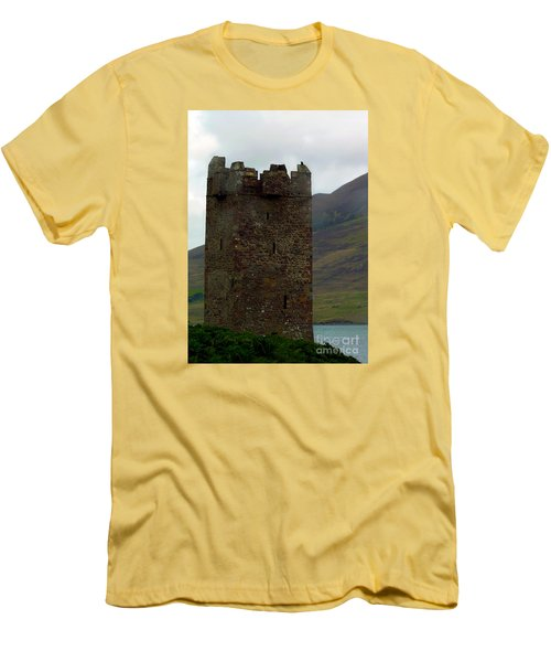 Castle Of The Pirate Queen Men's T-Shirt (Slim Fit) by Patricia Griffin Brett