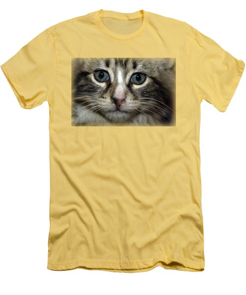 Cat T-shirt 1 Men's T-Shirt (Slim Fit) by Isam Awad