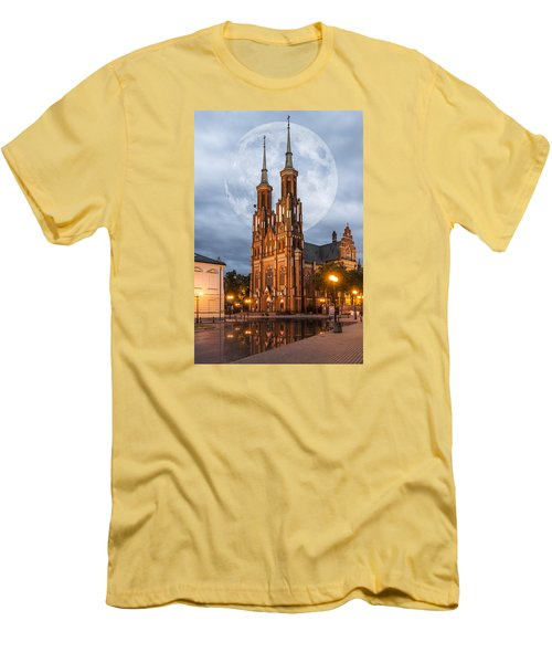 Men's T-Shirt (Slim Fit) featuring the photograph Cathedral by Jaroslaw Grudzinski