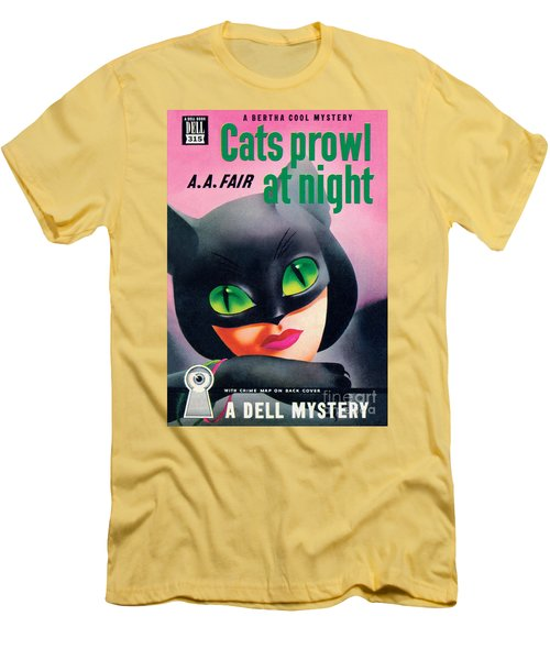 Cats Prowl At Night Men's T-Shirt (Athletic Fit)