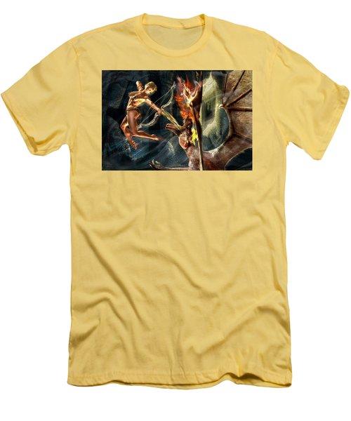 Caverns Of Light Men's T-Shirt (Slim Fit) by Glenn Feron