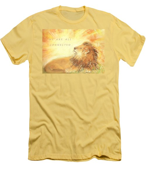 Cecil The Lion Men's T-Shirt (Slim Fit) by Denise Fulmer