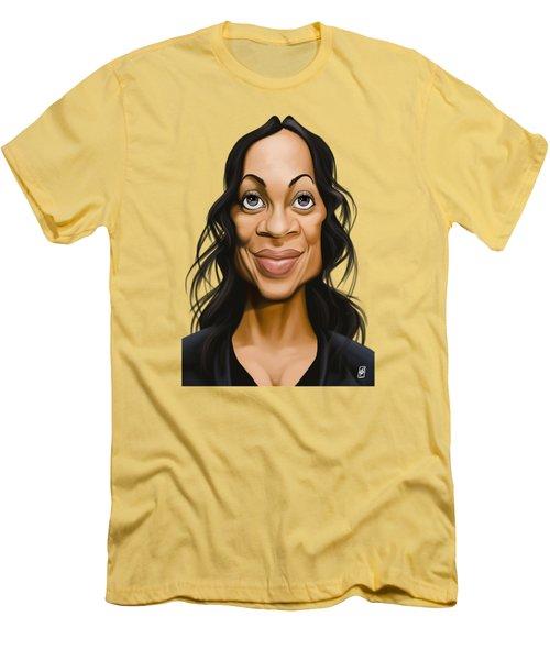 Celebrity Sunday - Rosario Dawson Men's T-Shirt (Athletic Fit)