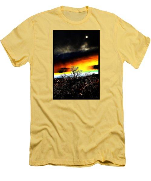 Men's T-Shirt (Slim Fit) featuring the photograph Celestial Tsunamis by Susanne Still