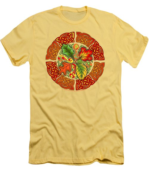 Celtic Autumn Leaves Men's T-Shirt (Athletic Fit)