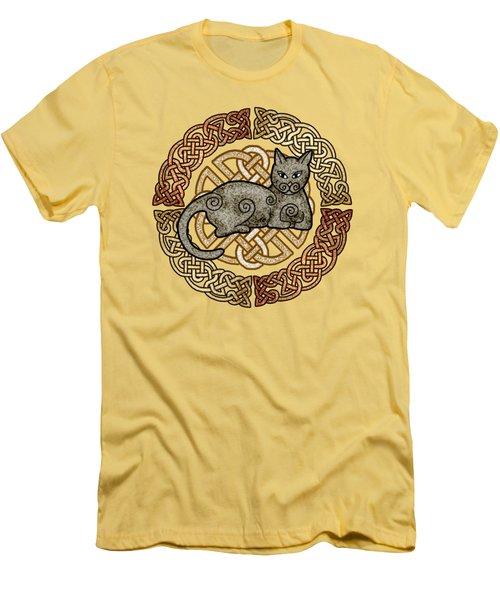 Celtic Cat Men's T-Shirt (Athletic Fit)
