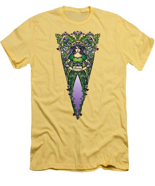 Celtic Forest Fairy - Virtue Men's T-Shirt (Athletic Fit)