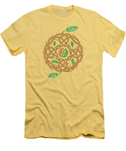 Celtic Nature Yin Yang Men's T-Shirt (Athletic Fit)