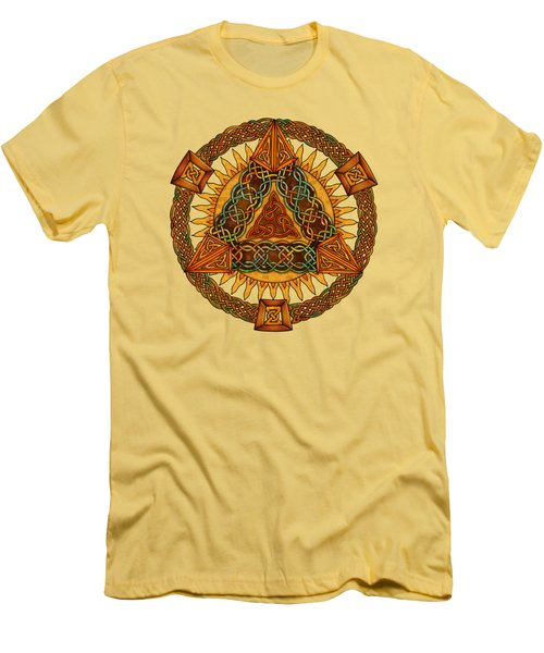 Celtic Pyramid Mandala Men's T-Shirt (Athletic Fit)