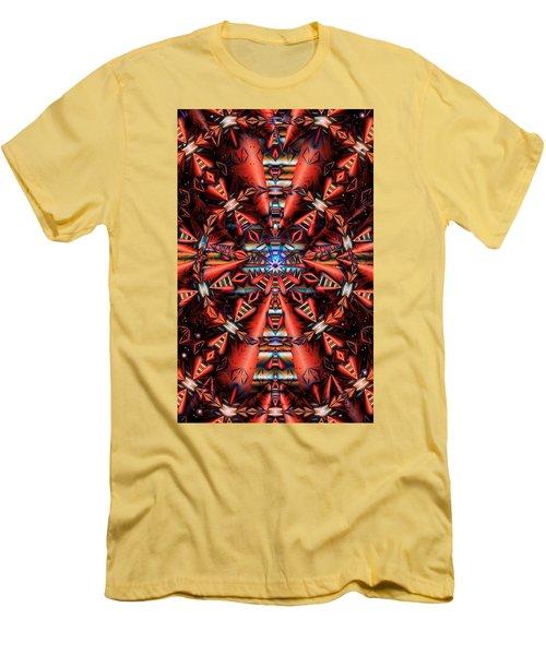 Centered Men's T-Shirt (Slim Fit) by Ron Bissett