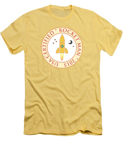 Certified Rocket Man Men's T-Shirt (Slim Fit) by Gaspar Avila
