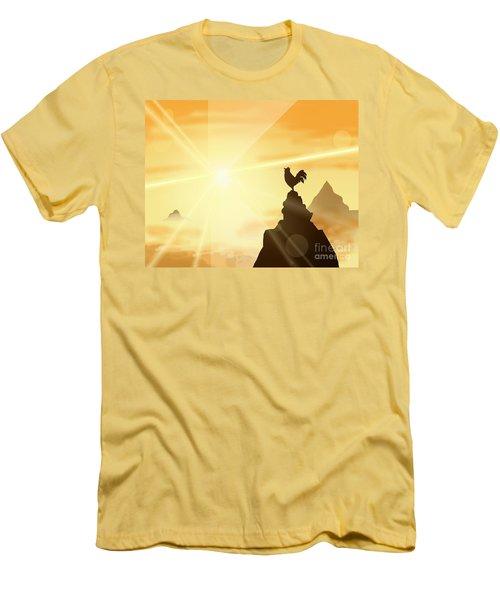 Challenge The Sun Men's T-Shirt (Athletic Fit)