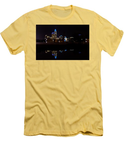 Charlotte Reflection At Night Men's T-Shirt (Slim Fit) by Serge Skiba