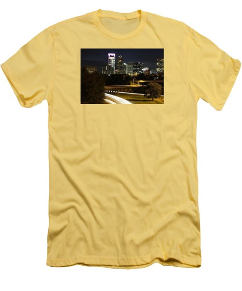 Charlotte's Skyline Men's T-Shirt (Slim Fit) by Demetrai Johnson