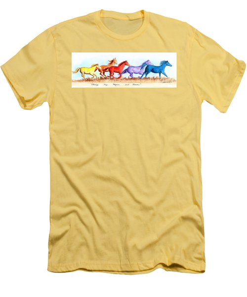 Chasing My Hopes And Dreams Men's T-Shirt (Slim Fit) by LeAnne Sowa