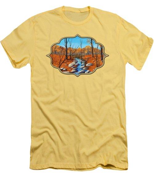 Cheerful Fall Men's T-Shirt (Slim Fit) by Anastasiya Malakhova
