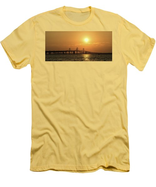 Chesapeake Bay Bridge Sunset I Men's T-Shirt (Athletic Fit)