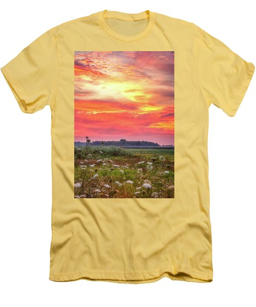 Chesapeake Sunrise I Men's T-Shirt (Slim Fit) by David Cote