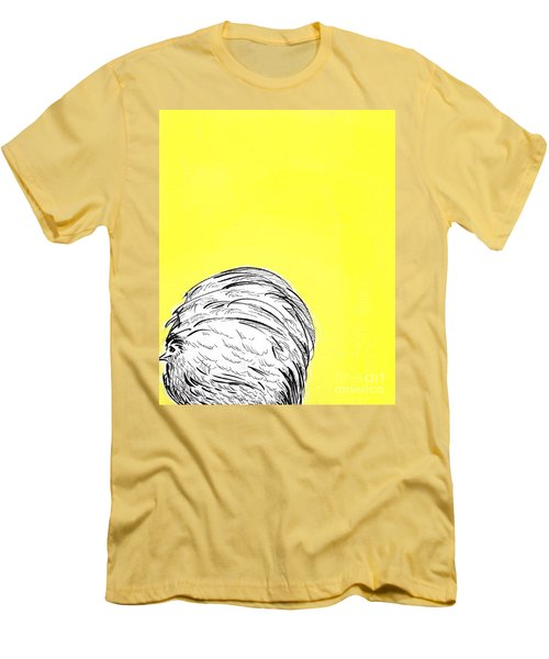 Men's T-Shirt (Slim Fit) featuring the painting Chickens Two by Jason Tricktop Matthews