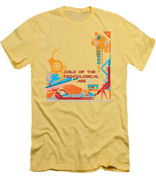 Child Of The Technological Age Men's T-Shirt (Slim Fit) by Paulette B Wright