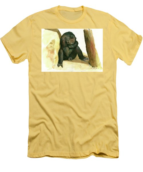 Chimp Men's T-Shirt (Slim Fit) by Juan Bosco