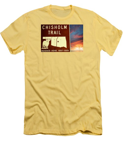 Chisholm Trail Oklahoma Men's T-Shirt (Slim Fit) by Bob Pardue