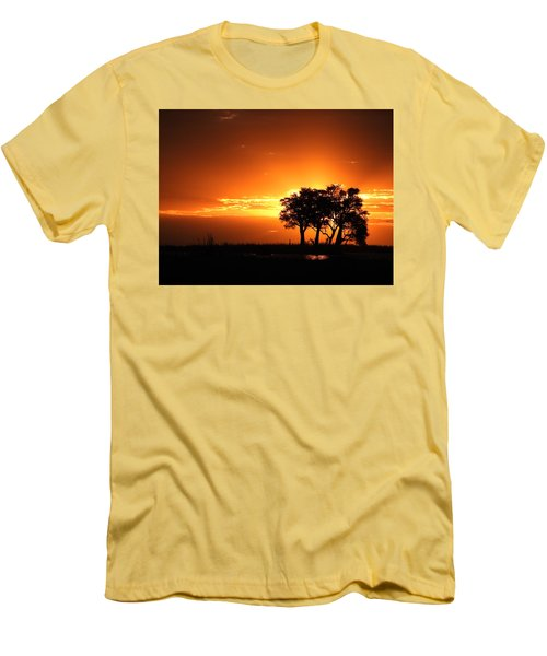 Men's T-Shirt (Slim Fit) featuring the photograph Chobe River Sunset by Betty-Anne McDonald