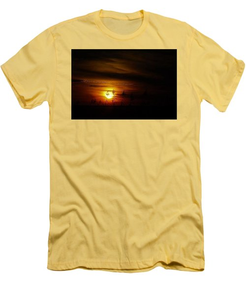 Men's T-Shirt (Slim Fit) featuring the photograph Chocolate  Sunset by John Glass