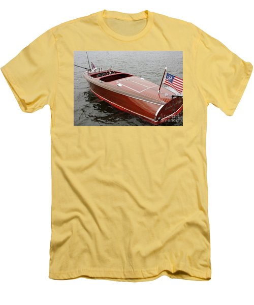 Chris Craft Barrel Back Men's T-Shirt (Athletic Fit)