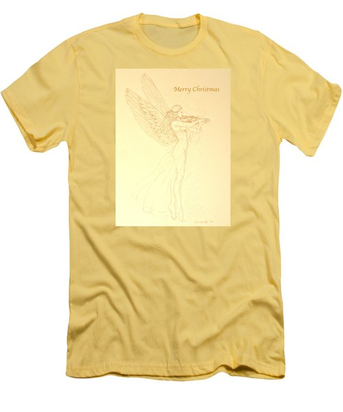 Christmas Angel With Violin Men's T-Shirt (Athletic Fit)