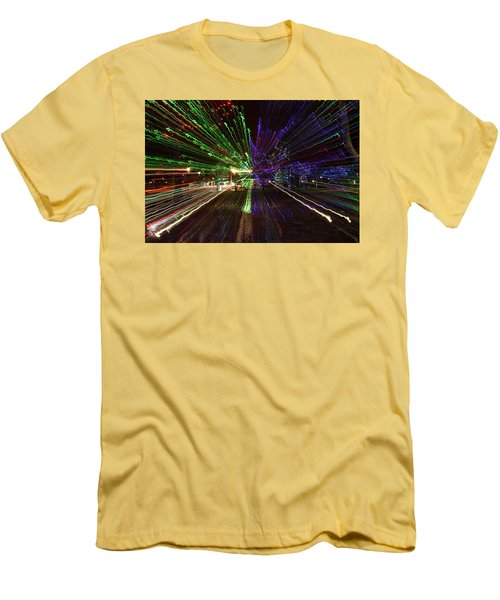 Christmas Exploding Men's T-Shirt (Athletic Fit)