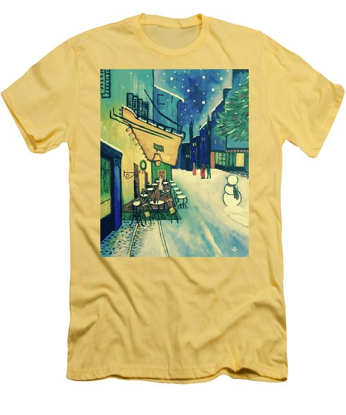 Christmas Homage To Vangogh Men's T-Shirt (Athletic Fit)